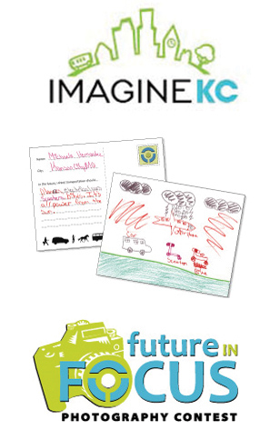 ImagineKC, Future in Focus and postcard logos and images